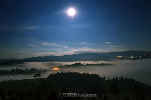 Mountain Zlatar at night by Piroshki-Photography