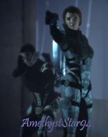 ME1: Kaidan and his Shepard by AmethystStar94