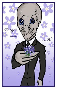 DW: Forget me not...? by blackbirdrose