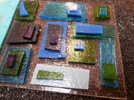 UNFINISHED fused glass wall hanging  by scarlett-stephanie