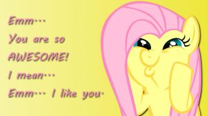 Wallpaper Fluttershy you are awesome by Barrfind