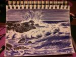 Waves crashing. by wetsocksmell
