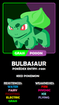 001 -- Bulbasaur by Jason-de-LEpee