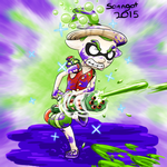 Gomu gomu no... Splatling gun! by Sanngot
