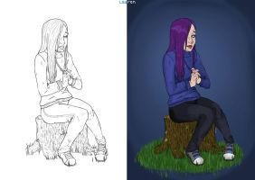 Dara line art and main colour. by seannethecloud
