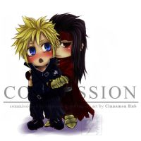 Commission: crimsonsilverdragon's Advent Children by scottwuming