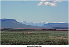 Buttes and Mountains by hunter1828