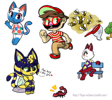 ACNL Doodles 1 by Foop-McFawn