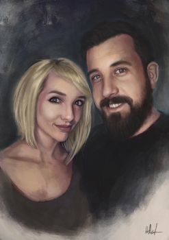 Portrait of Lyz Brickley and her Husband by Russtiel