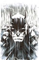 BATMAN in the RAIN by jerkmonger