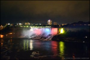 Niagara Falls at night I by Tramira