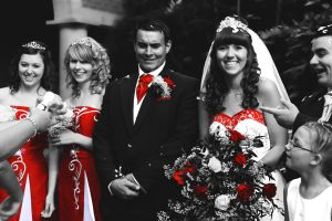 black, white and red wedding. by JadeGreenbrooke