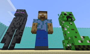 Minecraft: Enderman, Herobrine, Creeper by Gangor7