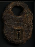 Old Rusty Lock by eviln8