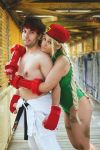 Cammy/Ryu's cosplay - Fighter's hug! by JudyHelsing