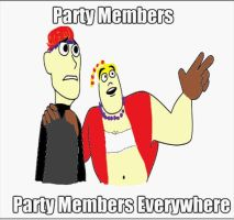Party Members, Party Members Everywhere by JakandDaxter2600