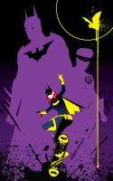 Batgirl gleaming the cube by Tom Kelly by TomKellyART
