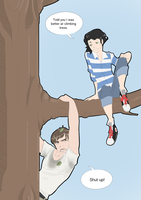 Tree Climbing Competition by LittleKidsin