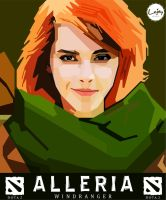 WPAP - Alleria DotA 2 also known as Windranger by indrazzillejay