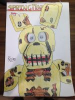 Springtrap | FNAF 3 | Traditional Art by ItsNotMeItsHim