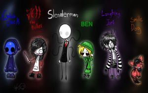 CreepyPasta Monsters by EqualsXzero