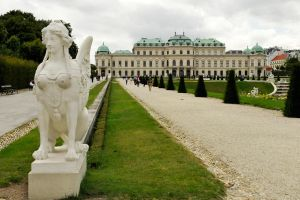 Belvedere Palace and sculpture 1 by wildplaces