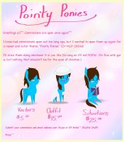 Pointy Ponies- Commissions Banner (Updated) by TakaraPOV
