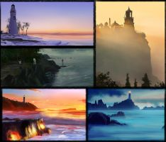 Lighthouses by Sleax
