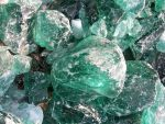 Green Melted glass rocks 5 by FairieGoodMother