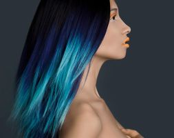 BLUE HAIR by Muhammadfaizan