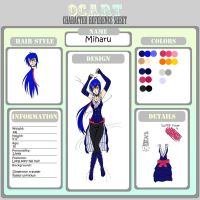 Miharu Reference Sheet by MulberryDreamer