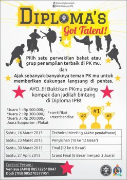 Diploma's Got Talent Poster Portrait by dendicious