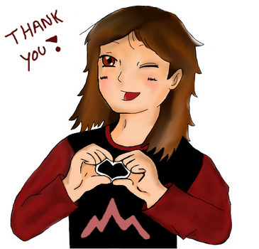 Me thanking all of you for everything! by Moonwolflove