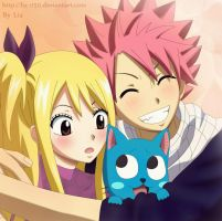 Natsu x Lucy and Happy: The best team by Liz-050