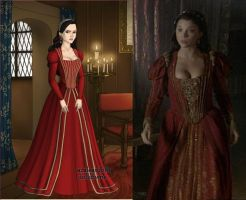 Anne's red and gold dress by LadyAquanine73551