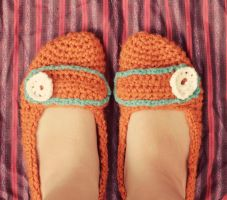Crochet Slippers Pattern by tiny-moon