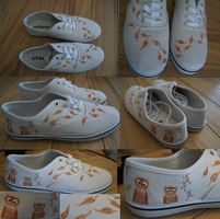 Owl shoes by Jaguraawr