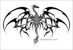 Kat Dragon Tattoo Vector by ValliantCreations