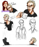 Spike Sketchdump by HarpyMarx