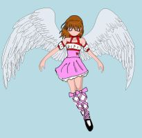 me as an angel by Xx-BlackVampire-xX