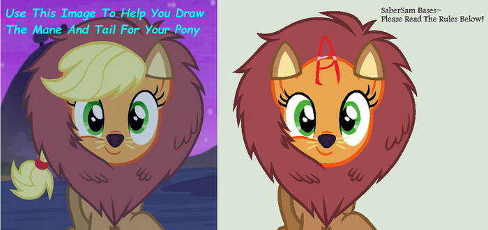 MLP Base 4 - Pony In A Lion Costume by SaberSam-Bases