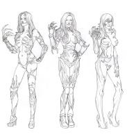 Witchblade Sketches by khazen