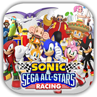 Sonic Sega Racing Game Icon by Wolfangraul