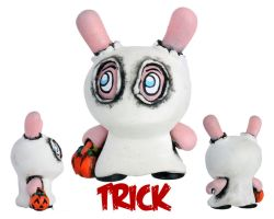 Dunny Monster : Painted Trick by zombiemonkie