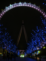 London Eye New Year's Eve by c1a2t345