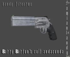 Barry Burton's Colt Andaconda by DamianHandy