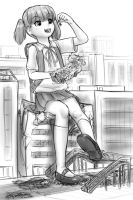 large loli's lunchtime by AlloyRabbit