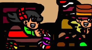 Vanellope Rides Though A New Racing Stage by TheGr8estOne