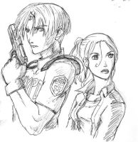 resident evil 2 by OniIfez