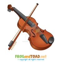 Violon - Violin FROGandTOAD by FROG-and-TOAD